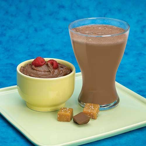 Chocolate Salted Caramel Pudding And Shake