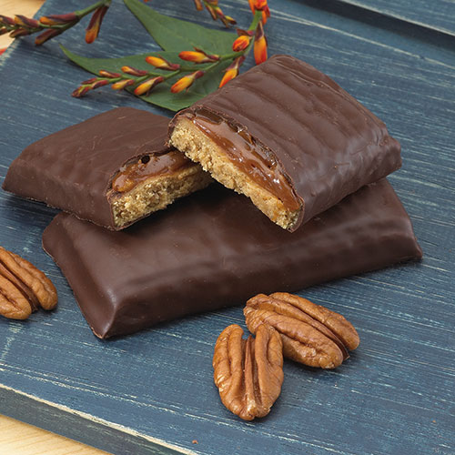 Butter Pecan Bar With Caramel With Chocolate Flavored Coating