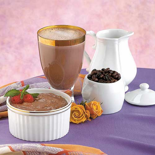 Creamy Mocha Pudding & Shake With Fiber