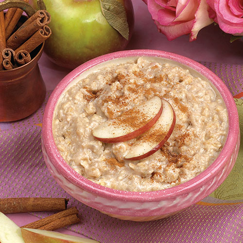 Oatmeal with Apples and Cinnamon