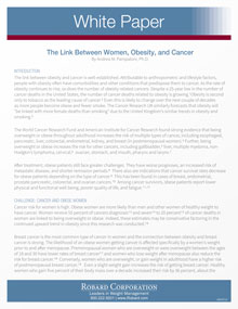 Link Between Obesity And Cancer White Paper