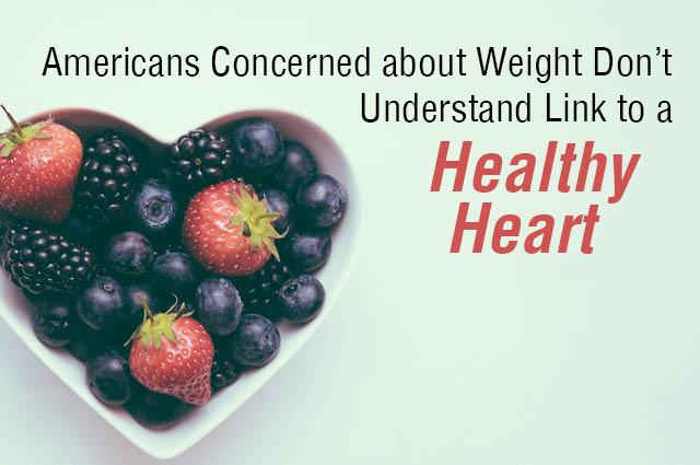 Americans Concerned About Their Weight, But Don't Understand Link To A Healthy Heart
