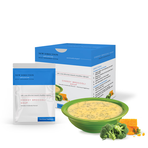 New Direction Advanced Cheesy Broccoli Soup product line by Robard