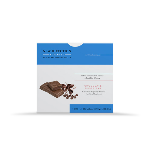 New Direction Advanced Chocolate Fudge Bar box by Robard