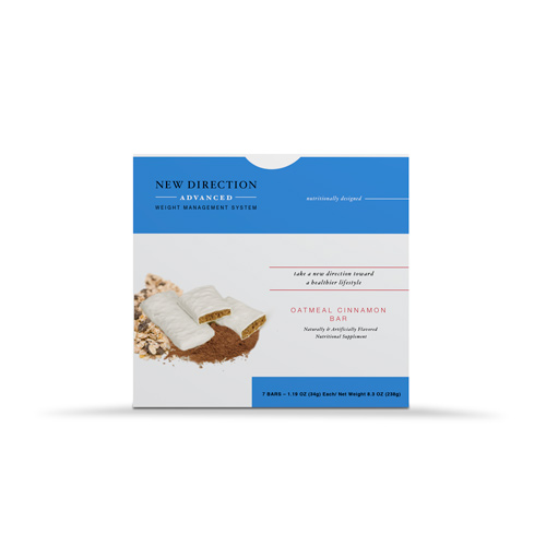 New Direction Advanced Oatmeal Cinnamon Bar Box By Robard