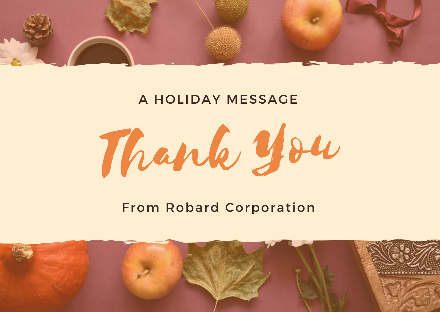 Thanksgiving Holiday Message